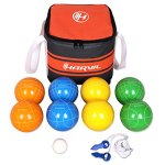 Harvil-90mm-Bocce-Ball-Set-Includes-8-Poly-Resin-Balls-1-Pallino-1-Nylon-Zip-Up-Carrying-Case-and-Measuring-Rope-0