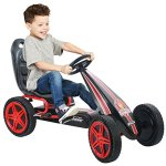 Hauck-Highlander-Pedal-Go-Kart-Ride-On-RedBlack-0-0