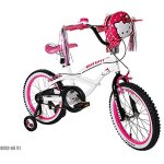 Hello-Kitty-18-Steel-White-Frame-Bicycle-Outdoor-Sports-Kids-Bike-for-Girls-with-Helmet-0-2