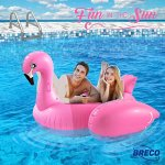 Huge-Inflatable-Pink-Flamingo-Pool-Float-Large-6-Foot-Floatie-for-Kids-and-Adults-with-Riding-Handles-Extra-Thick-Heavy-Puncture-Resistant-Duty-Vinyl-By-Breco-0-2