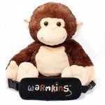Hugo-Warmkins-Original-18-Weighted-Sensory-Plush-Monkey-Feels-Like-a-Warm-HugTherapeuticCalmingComfortingHotColdMicrowavableDoubles-as-Backpack-and-StorageRemovable-StrapsReversible-Paws-0
