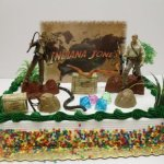 Indiana-Jones-Birthday-Cake-Topper-Set-Featuring-Indiana-Jones-and-Themed-Decorative-Pieces-0