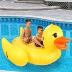 Inflatable-Duck-Float-Pool-Raft-HUGE-80-Rubber-Duck-Pool-Float-Inflatables-for-Adults-Kids–Perfect-Pool-Toy-for-the-Beach-Floats-with-Durable-Yellow-Vinyl-Guaranteed-Floatie-Fun-on-Water-0-1