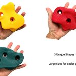 JGS-20-Premium-Quality-Large-Rock-Climbing-Holds-for-Kids-with-Longer-2-Mounting-Hardware-for-Wood-Playset-Swing-Set-Indoor-Outdoor-Climbing-Wall-Children-Playground-eBook-Install-Guide-Included-0-2