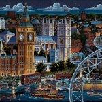 Jigsaw-Puzzle-London-1000-Pc-By-Dowdle-Folk-Art-0-1