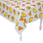 Junk-Food-Plastic-Tablecloth-Roll-40-x-100-Feet-Long-Pizza-Table-Cover-0-0