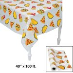 Junk-Food-Plastic-Tablecloth-Roll-40-x-100-Feet-Long-Pizza-Table-Cover-0