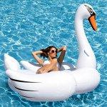 Kangaroos-Giant-Swan-Pool-Float-78-12-Inflatable-Raft-0-0
