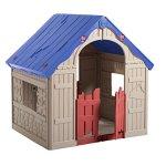 Keter-WonderFold-Foldable-Playhouse-Red-RoofGreen-Door-0