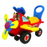 Kiddieland-Disney-Mickey-Mouse-Clubhouse-Plane-Light-Sound-Activity-Ride-On-0