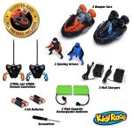KidiRace-Remote-Control-RC-Bumper-Cars-Set-of-2-with-Rechargeable-Batteries-and-2-Wall-Chargers-0-1