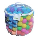 Kids-Ball-Pit-Balls-40200400-Zippered-Tote-by-SimpleLyfe-Preschool-Kindergarten-Playground-Toys-for-Toddlers-Babies-Fun-Outdoor-Indoor-Play-Phthalate-Free-Plastic-0-1