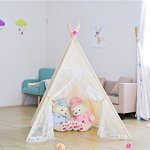 Kids-Teepee-TentLarge-Lace-Play-Tent-for-Children-Gift-Outdoor-and-Indoor-Playhouse-Decoration-With-Flag-and-Carry-Case-0-1