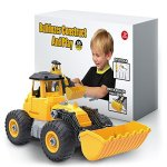 Kidwerkz-Bulldozer-Toy-Take-Apart-Toys-Fun-Gift-for-4-year-old-boy-Toddler-Ages-3-years-6yr-55-pieces-Tractor-Construction-Truck-Vehicle-Best-Kids-Gifts-for-Holidays-2017-Stem-Learning-Tools-0