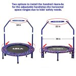 LBLA-Little-Kids-Trampoline-with-Adjustable-Handrail-and-Safety-Padded-Cover-Mini-Foldable-Bungee-Rebounder-0-1