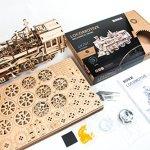 LK701-DIY-Laser-Cut-3D-Wooden-Puzzle-Mechanical-Windup-Locomotive-0-0