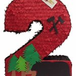 Large-Number-Two-Pinata-23-Tall-Lumberjack-Theme-Party-Favor-0