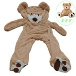 Life-Size-Huge-Plush-Teddy-Bear-Unstuffed-Soft-Giant-Toy-Animal-for-Children-Girls-Wishes-Only-Cover-Sealing-With-The-Zipper-At-Shells-Back-0