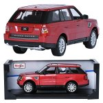 Maisto-118-RANGE-ROVER-SPORT-Red-Display-Miniature-Car-0-1