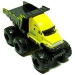 Maisto-Fresh-Metal-Builder-Zone-Quarry-Monster-Yellow-Dump-Truck-Motorized-6-Wheeler-0-1