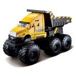 Maisto-Fresh-Metal-Builder-Zone-Quarry-Monsters-Yellow-Construction-Dump-Truck-0