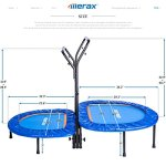 Merax-Kids-Mini-Trampoline-Parent-Child-Trampoline-with-Adjustable-Handlebar-0-1