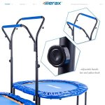 Merax-Kids-Mini-Trampoline-Parent-Child-Trampoline-with-Adjustable-Handlebar-0-2
