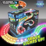 Mindscope-LED-Laser-Twister-Tracks-12-Feet-of-Light-Up-Flexible-Track-1-Light-Up-Race-Car-Each-Individual-Track-Piece-Contains-Lights-Standard-Color-System-0-0