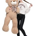 MorisMos-47-inches-Giant-Huge-Teddy-Bear-Stuffed-Animals-Plush-Toy-for-Children-Girlfriend-Tan-0-0