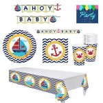 Nautical-Baby-Shower-Supplies-Decorations-Set-Including-Plates-Napkins-Cups-Table-Cover-and-Banner-0