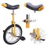 New-Deluxe-16-Inch-Unicycle-Uni-cycle-Unicycles-Wheel-Cycling-Chrome-0-0