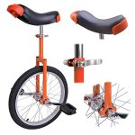 Orange-18-Inch-18-Unicycle-Cycling-Bike-With-Adjustable-Saddle-Seat-0-0