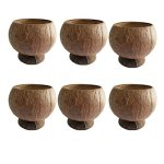 PARTYMASTER-Natural-Coconut-Shell-Cup-12oz-Hawaiian-Summer-Luau-Party-Cups6-Count-0