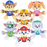 PAW-Patrol-6-Plush-Toy-SET-of-6-Characters-Marshall-Skye-Everest-Rocky-Rubble-Chase-0