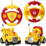 Pack-of-2-Construction-Cartoon-RC-Toys-Cement-Truck-and-Dump-Truck-Radio-Control-Toys-for-Kids-With-24Ghz-Frequency-So-Both-Can-Race-Together-0-0