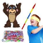 Pinatas-Monkey-Pinata-Kit-Buster-Stick-Bandana-and-2-lb-Candy-Filler-0