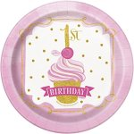 Pink-And-Gold-1st-Birthday-Party-Bundle-Plates-Napkins-Table-Covers-Banner-And-High-Chair-Decorating-Kit-Serves-24-0-1