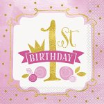 Pink-And-Gold-1st-Birthday-Party-Bundle-Plates-Napkins-Table-Covers-Banner-And-High-Chair-Decorating-Kit-Serves-24-0-2