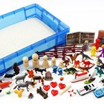 Play-Therapy-Sand-Tray-Basic-Portable-Starter-Kit-with-Tray-Sand-and-Miniatures-0
