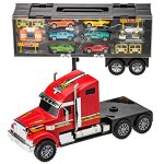Prextex-24-Detachable-Carrier-Truck-Toy-Car-Transporter-With-Rubber-Wheels-and-6-Toy-Cars-Toys-For-Boys-And-Girls-0-2