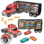 Prextex-24-Detachable-Carrier-Truck-Toy-Car-Transporter-With-Rubber-Wheels-and-6-Toy-Cars-Toys-For-Boys-And-Girls-0