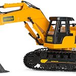 Remote-Control-Excavator-Toy-Truck-with-Flashing-Lights-and-SFX-Includes-Transmitter-and-Battery-Charger-Battery-Operated-RC-Toy-Construction-Vehicle-for-Kids-with-Cool-Sound-Effects-Lighting-0-1