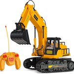 Remote-Control-Excavator-Toy-Truck-with-Flashing-Lights-and-SFX-Includes-Transmitter-and-Battery-Charger-Battery-Operated-RC-Toy-Construction-Vehicle-for-Kids-with-Cool-Sound-Effects-Lighting-0