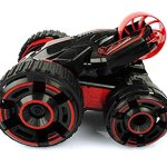 Remote-control-Stunt-Car-Double-face-work-30kmh-rapid-stunt-roller-car-all-terrian-suitable-for-competition-with-lightRed-0-0