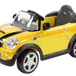 Rollplay-MINI-Cooper-6-Volt-Battery-Powered-Ride-On-Yellow-0