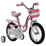 RoyalBaby-Little-Swan-Girls-Bike-with-basket-14-16-or-18-inch-girls-bike-with-training-wheels-or-kickstand-gifts-for-kids-girls-bicycles-0-0