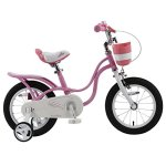 RoyalBaby-Little-Swan-Girls-Bike-with-basket-14-16-or-18-inch-girls-bike-with-training-wheels-or-kickstand-gifts-for-kids-girls-bicycles-0