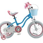 RoyalBaby-Stargirl-Girls-Bike-with-Training-Wheels-and-Basket-Perfect-Gift-for-Kids-12-Inch-14-Inch-16-Inch-Blue-Pink-0