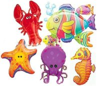 SEA ANIMALS BALLOONS SEA BIRTHDAY PARTY UNDER THE SEA ...
