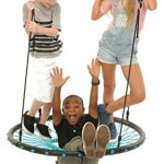 SWINGING-MONKEY-PRODUCTS-Tarzan-Tire-40-Spider-Web-Swing-Green–Tree-Swing-Redesigned-Tire-Swing-Extra-Safe-and-Durable-Swing-with-Friends-Easy-Install-for-Swing-Set-or-Tree-0-1